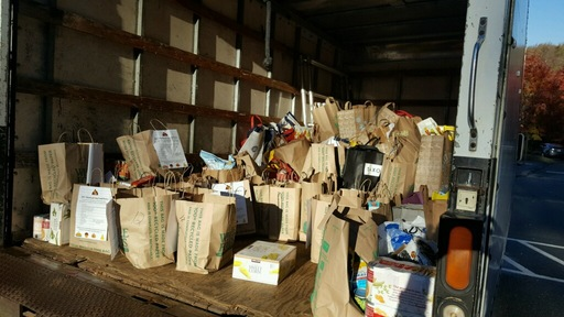 Learning Village Donates 2,959 Items to Emergency Food Bank