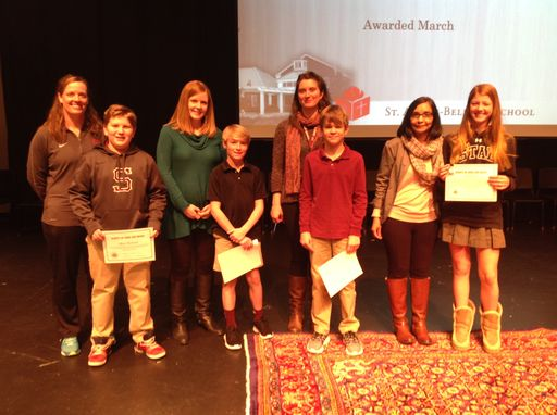Grades 5 - 8 Habits of Heart & Mind Perspective Award Winners
