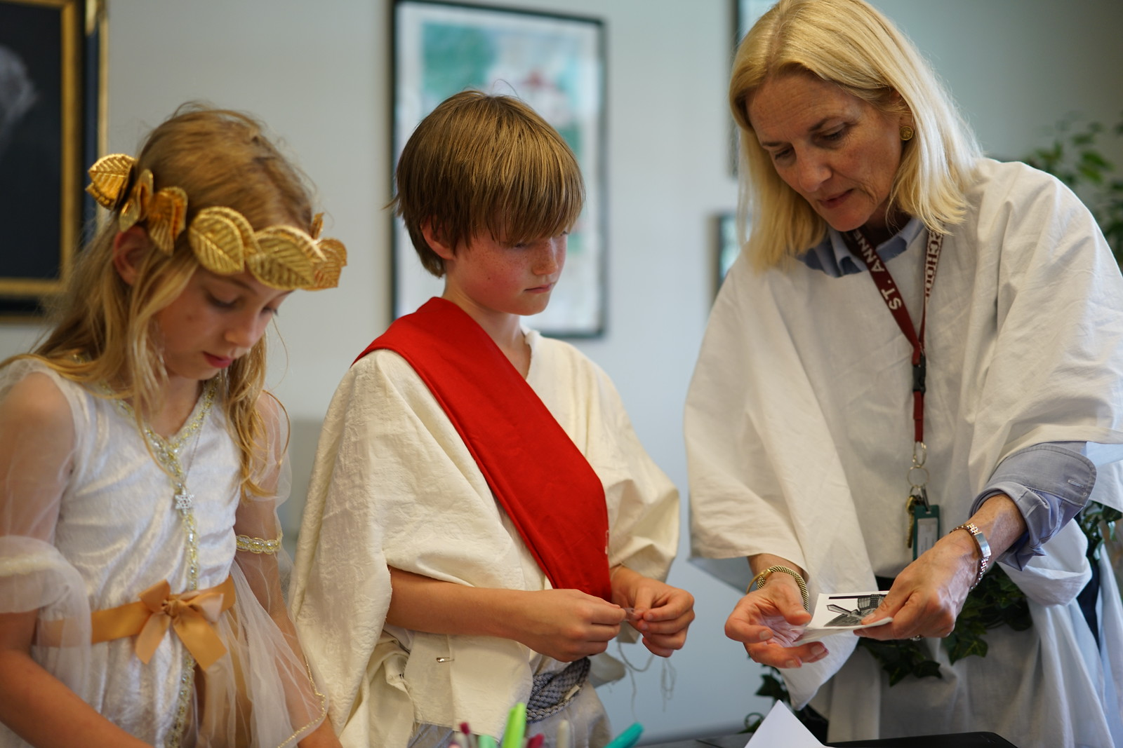 Students participate in the annual Grade 3 Rome Day.